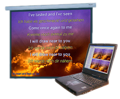 Worship Software Bible Projector Songs Project At Church